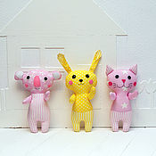 Куклы и игрушки handmade. Livemaster - original item Set of toys for the baby-cat, Bunny and Koala. Handmade.