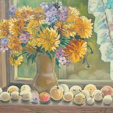 """Картины и панно ручной работы. Ярмарка Мастеров - ручная работа Картина маслом """" Золотые шары """". Handmade."""