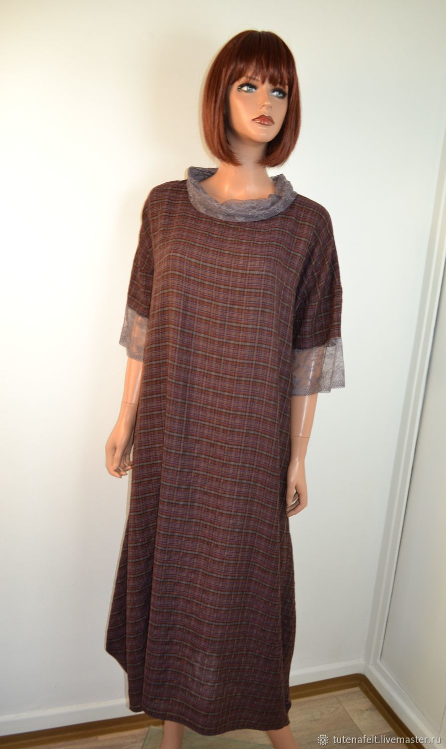 Light boho dress with a loose fit made of viscose a staple with lace, Dresses, Mulhouse,  Фото №1