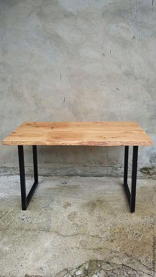 Мебель ручной работы. Ярмарка Мастеров - ручная работа. Купить Обеденный стол в стиле Лофт. Handmade. Коричневый, лофт, металл