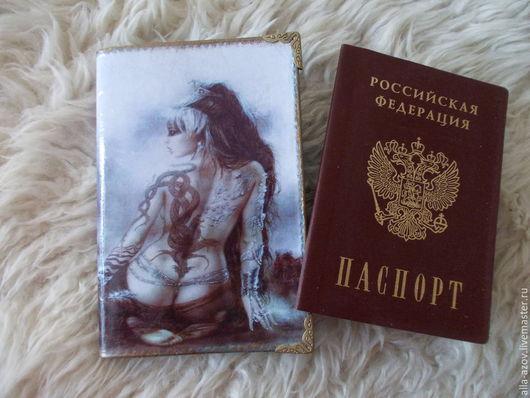 Персональные подарки ручной работы. Ярмарка Мастеров - ручная работа. Купить Обложки на паспорт и автодокументы. Handmade. Коричневый, стекловидный лак
