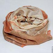 Аксессуары ручной работы. Ярмарка Мастеров - ручная работа шарф валяный Мякоть персика. Handmade.