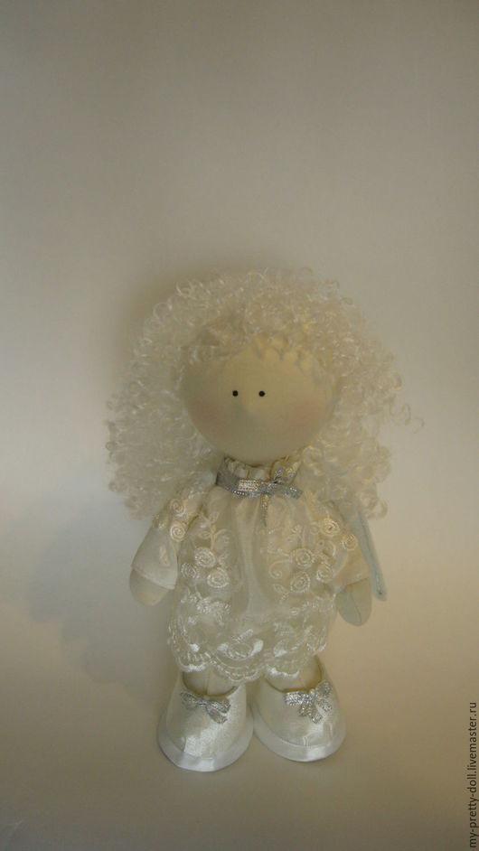 Коллекционные куклы ручной работы. Ярмарка Мастеров - ручная работа. Купить Кукла Снежка Ангел маленький. Handmade. Снежка, белый