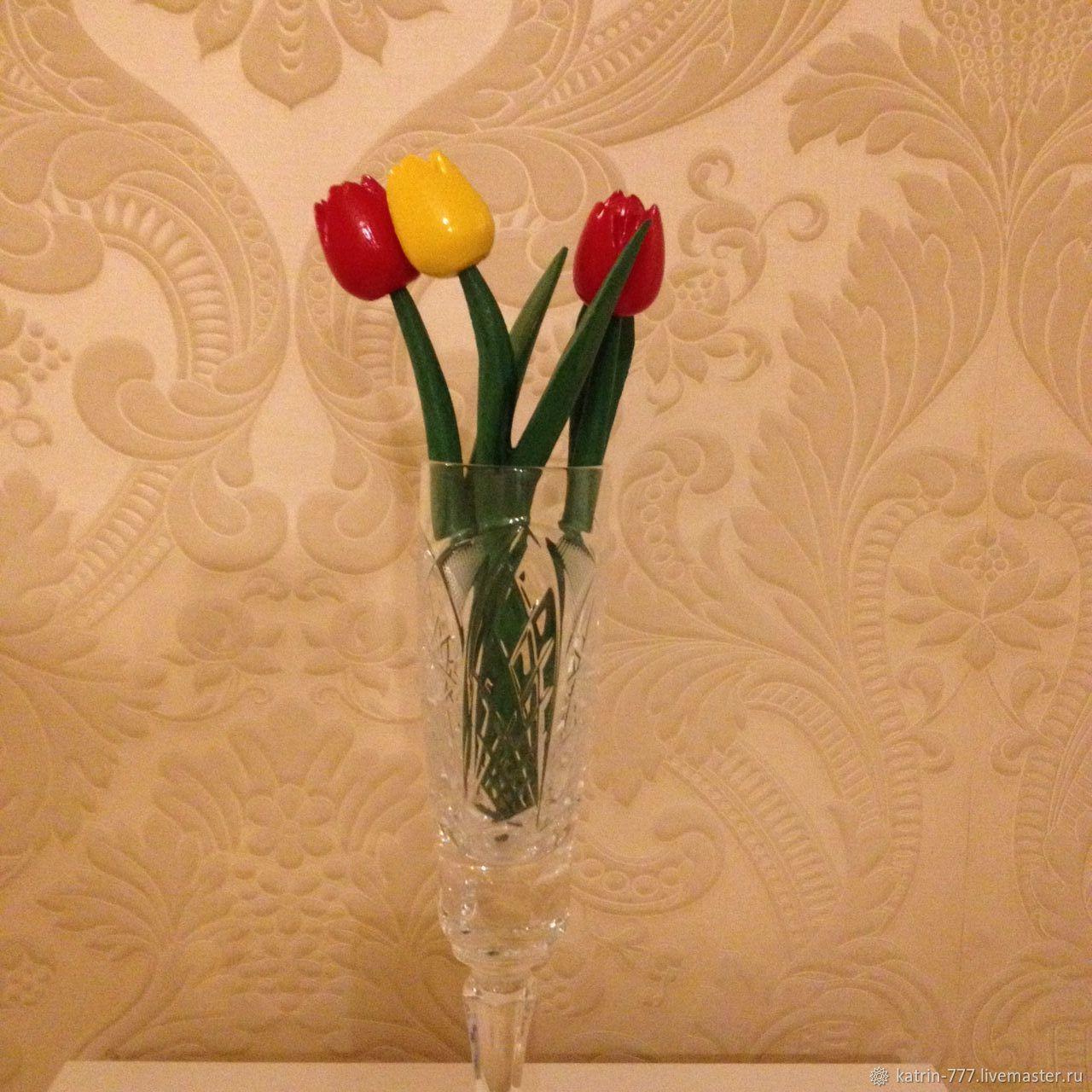 Деревянные тюльпаны купить синие розы тверь купить