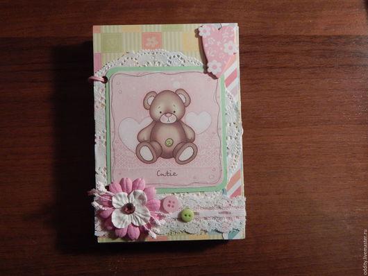 Фотоальбомы ручной работы. Ярмарка Мастеров - ручная работа. Купить Мини-альбомчик для девочки. Handmade. Комбинированный, бумага для скрапбукинга