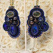 Украшения handmade. Livemaster - original item Earrings beaded embroidered