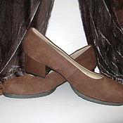 Винтаж ручной работы. Ярмарка Мастеров - ручная работа Туфли женские замшевые размер 40 i новые. Handmade.