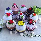 Куклы и игрушки ручной работы. Ярмарка Мастеров - ручная работа Самые вкусные и низкокалорийные пирожные. Handmade.