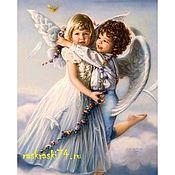 """Картины и панно ручной работы. Ярмарка Мастеров - ручная работа Раскраска по номерам """"Милые ангелочки"""". Handmade."""