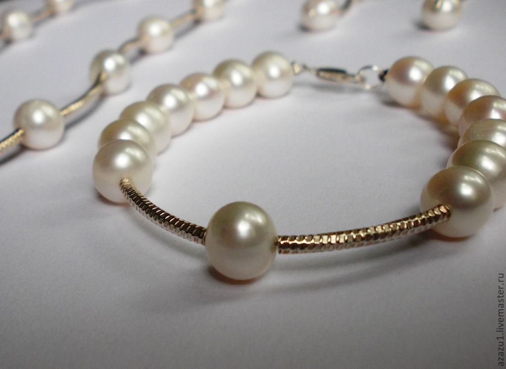 Pearl jewelry natural and silver set, Jewelry Sets, Moscow,  Фото №1