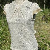 Винтаж handmade. Livemaster - original item Lace blouse by Mango. Handmade.