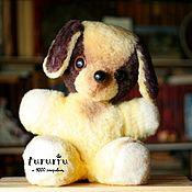 Винтаж handmade. Livemaster - original item Puppy dog yellow woof of the Soviet Union. Handmade.