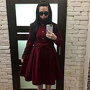 """Одежда ручной работы. Ярмарка Мастеров - ручная работа Пальто-платье с поясом """"бант"""". Handmade."""