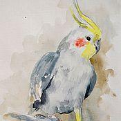 """Картины и панно ручной работы. Ярмарка Мастеров - ручная работа Картина акварелью """"Попугай"""". Handmade."""