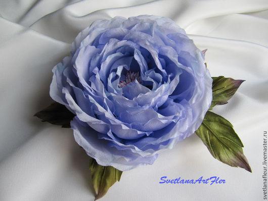 Цветы ручной работы. Ярмарка Мастеров - ручная работа. Купить Роза сиренево-голубая. Handmade. Сиреневый, голубой, роза