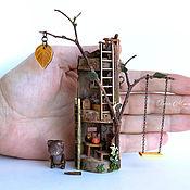 Мини фигурки и статуэтки ручной работы. Ярмарка Мастеров - ручная работа Домик в дереве для мишки  (НА ЗАКАЗ). Handmade.