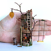 Куклы и игрушки handmade. Livemaster - original item House in the tree for the bears. Handmade.