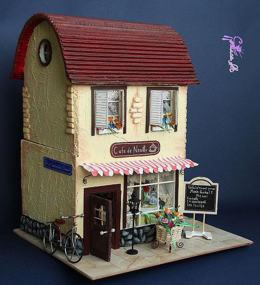 Кукольный дом ручной работы. Ярмарка Мастеров - ручная работа. Купить Кафе в Париже. Handmade. Париж, макетный картон