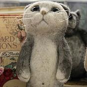 Куклы и игрушки ручной работы. Ярмарка Мастеров - ручная работа Валяная игрушка, котик. Handmade.