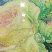 """Картины и панно ручной работы. Ярмарка Мастеров - ручная работа Картина """"Роза"""", пастель, 30х30. Handmade."""