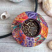 Украшения handmade. Livemaster - original item Boho summer Pendant in polymer clay.. Handmade.