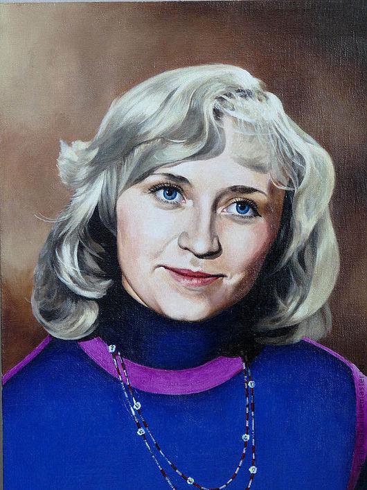 портрет для примера картина выполнена масляными красками на холсте.  ручная работа - холст, масло.
