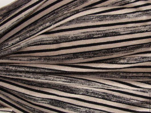 Шитье ручной работы. Ярмарка Мастеров - ручная работа. Купить трикотаж  в полосочку 50 х43 см,. Handmade. Серый