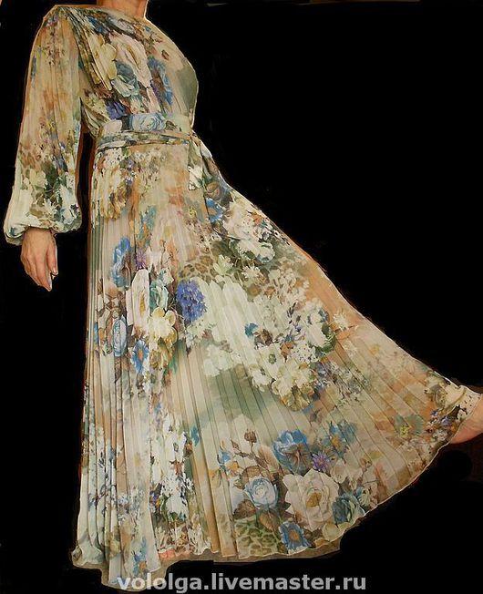 Платья ручной работы. Ярмарка Мастеров - ручная работа. Купить платье-гофре. Handmade. Платье нарядное, платье в пол