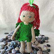 Мягкие игрушки ручной работы. Ярмарка Мастеров - ручная работа Вязаная игрушка кукла Гранатик. Handmade.
