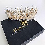 Украшения в прическу ручной работы. Ярмарка Мастеров - ручная работа Свадебная корона с кристаллами Swarovski. Handmade.