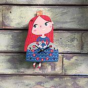 Для дома и интерьера ручной работы. Ярмарка Мастеров - ручная работа Детские маятниковые часы Принцесса Ариэль. Handmade.