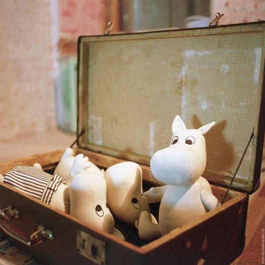 Сказочные персонажи ручной работы. Ярмарка Мастеров - ручная работа. Купить Муми-тролли, текстильные игрушки. Handmade. Муми-тролли