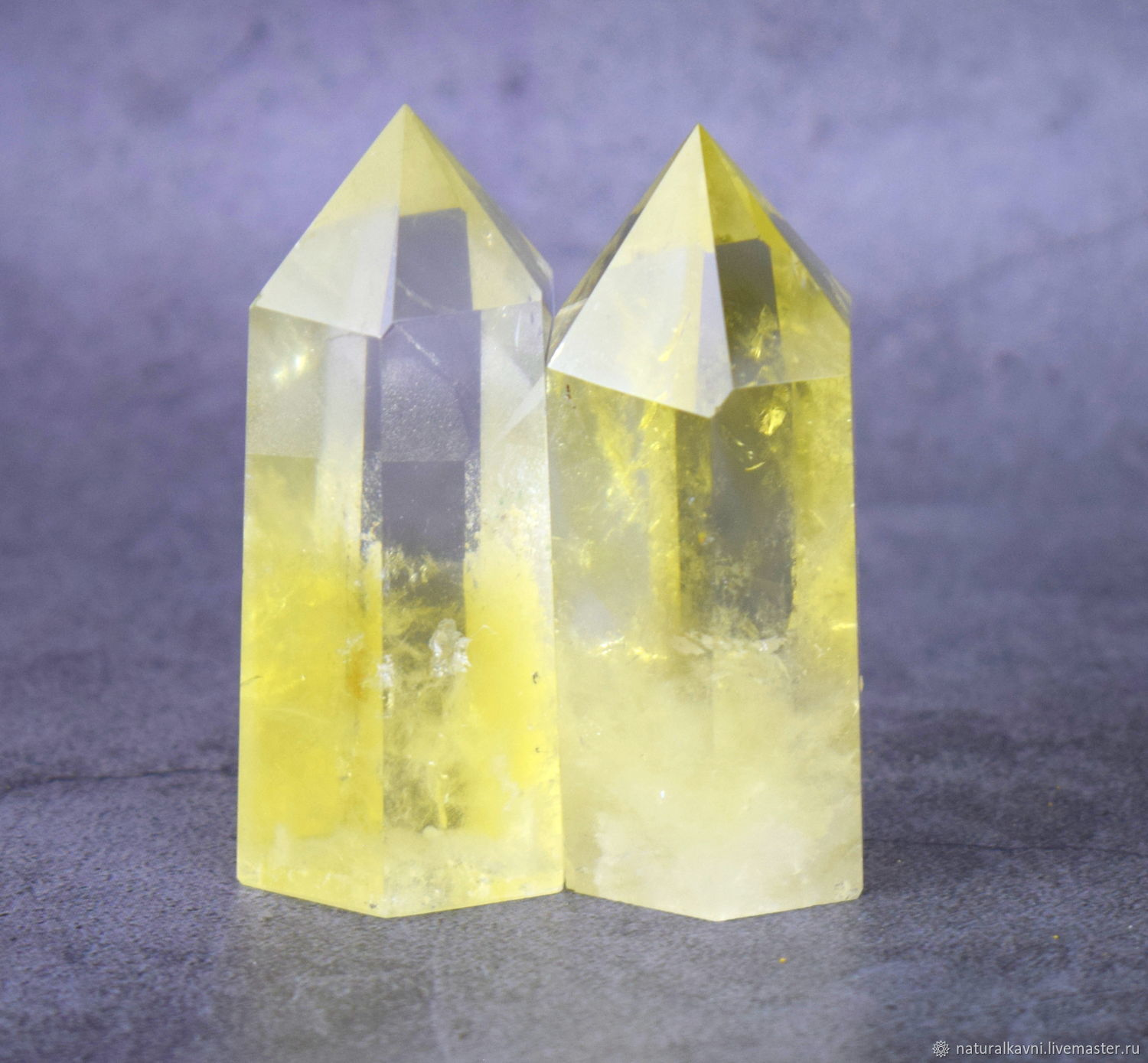 The crystal in the form of an obelisk made of natural citrine. Rod, Rod, Moscow,  Фото №1