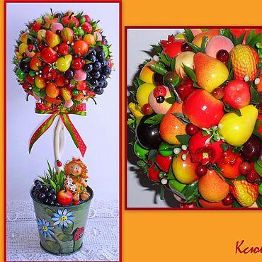 Цветы и флористика ручной работы. Ярмарка Мастеров - ручная работа Топиарий фруктовое деревце. Handmade.