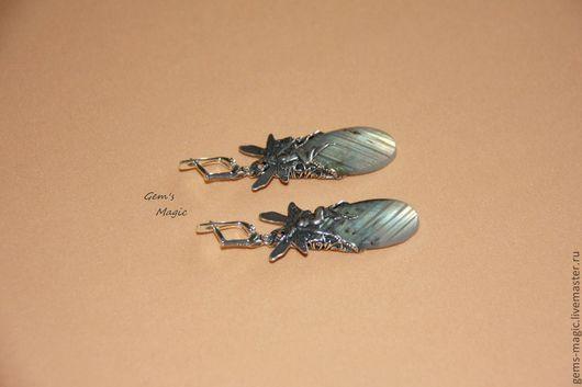 Earrings handmade. Livemaster - handmade. Buy Earrings 'Lovely peri'-Labrador.Earrings with stones, fairy, magician, silver