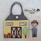 Куклы и игрушки ручной работы. Ярмарка Мастеров - ручная работа Домик-сумка.Ферма. Handmade.