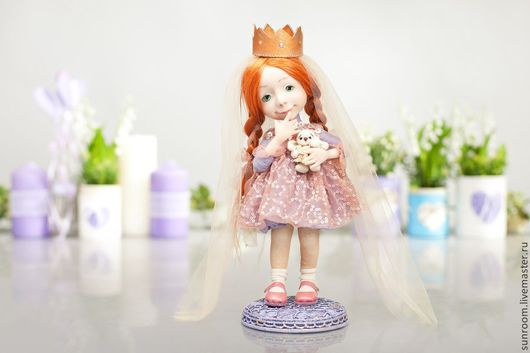 Коллекционные куклы ручной работы. Ярмарка Мастеров - ручная работа. Купить Маленькая принцесса. Handmade. Бирюзовый, золото, золотой