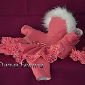 """Для домашних животных, ручной работы. Ярмарка Мастеров - ручная работа Комбинезон  пальто """"Ягода Розовая"""". Handmade."""