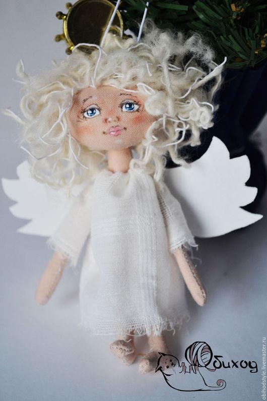 Ароматизированные куклы ручной работы. Ярмарка Мастеров - ручная работа. Купить Рождественский ангел. Handmade. Белый, приносит удачу, шерсть