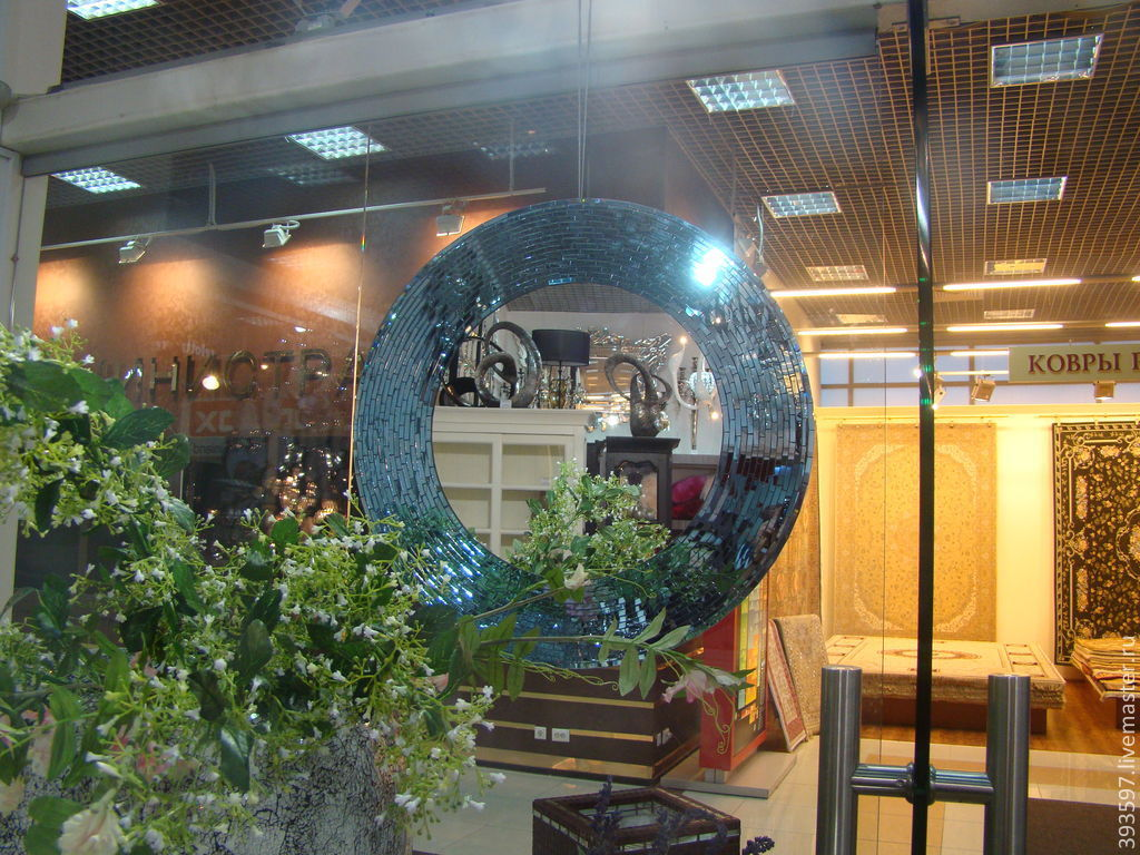 the mirror can be made any size,color and shape.