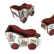 Куклы и игрушки ручной работы. Ярмарка Мастеров - ручная работа Мишкина тележка. Handmade.
