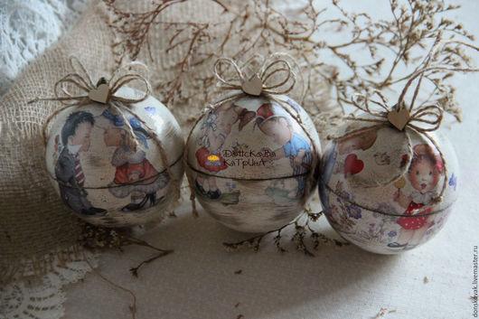 """Подарки для влюбленных ручной работы. Ярмарка Мастеров - ручная работа. Купить Ретро признание """"Влюблённые"""" (шар-шкатулка). Handmade."""