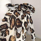 Одежда ручной работы. Ярмарка Мастеров - ручная работа Пляжная накидка леопардовая. Handmade.