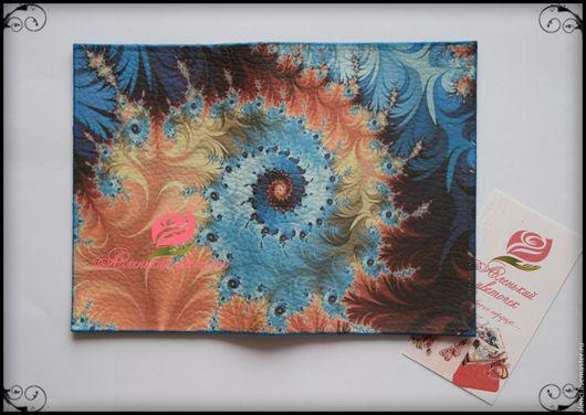 """Обложки ручной работы. Ярмарка Мастеров - ручная работа. Купить Обложка для паспорта """"Размытие"""". Handmade. Комбинированный, обложка для паспорта"""