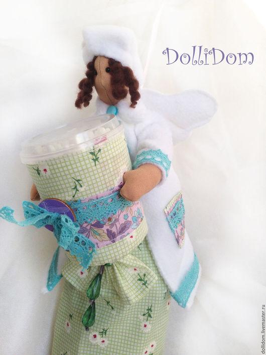 Куклы Тильды ручной работы. Ярмарка Мастеров - ручная работа. Купить Фея хранительница ватных дисков и палочек. Handmade.