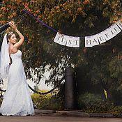 Свадебный салон ручной работы. Ярмарка Мастеров - ручная работа Свадебные растяжки Just Married, Sweet Love. Handmade.