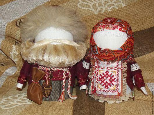 Народные куклы ручной работы. Ярмарка Мастеров - ручная работа. Купить Богач и Крупеничка. Handmade. Обереги для дома, Традиции, дерево