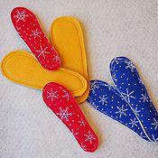 Обувь ручной работы. Ярмарка Мастеров - ручная работа Детские стельки из собачьей шерсти и фетра. Handmade.