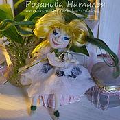 Куклы и игрушки ручной работы. Ярмарка Мастеров - ручная работа Кукла фея на каркасе из шерсти войлочная  Березулька. Handmade.