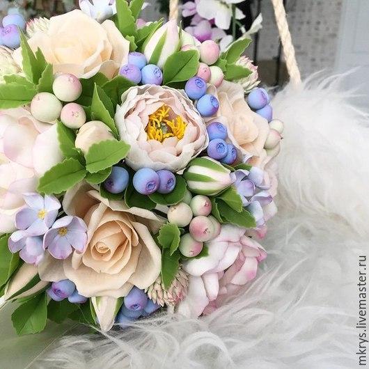 Букеты ручной работы. Ярмарка Мастеров - ручная работа. Купить Букет невесты. Handmade. Белый, букет, тайская глина